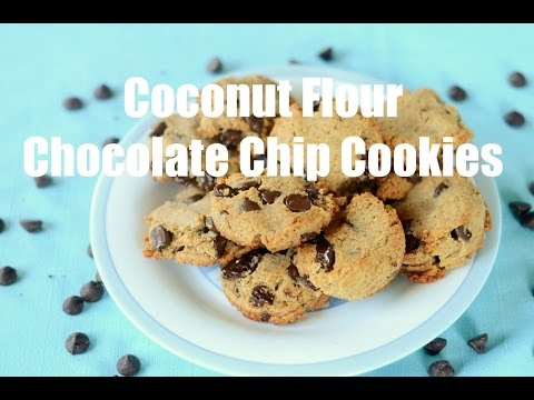Coconut Flour Chocolate Chip Cookies Paleo