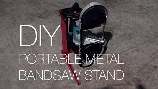 DIY Portable Metal Band Saw Stand