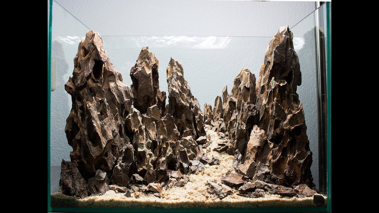 Hardscape Aquarium Mountain Aquascape 36l Youtube Ziolite Dan