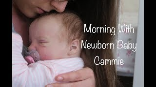 Morning Routine With Newborn Baby Cammie! (Reborn Baby Roleplay)