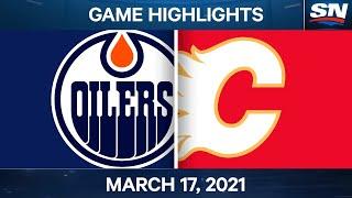 NHL Game Highlights   Oilers vs. Flames – Mar. 17, 2021