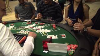 Casino Night 2013 - BIG Blackjack win!