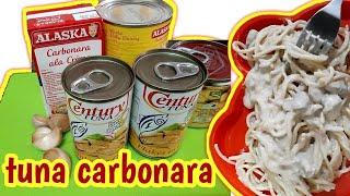 Simpleng sangkap ng carbonara | How to cook tuna carbonara