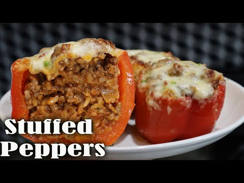 How To Make Easy Stuffed Bell Peppers The Stay At Home Chef Youtube