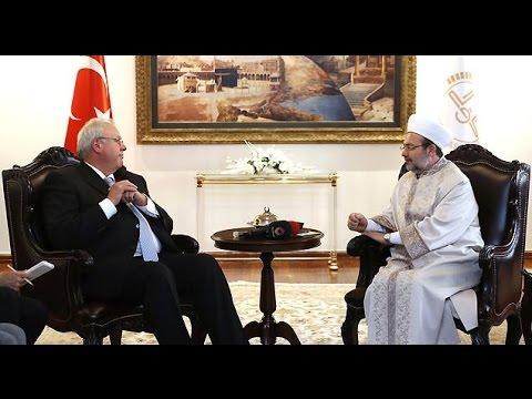 Diyanet İşleri Başkanı Görmez, Almanya'nın Ankara Büyükelçisi Erdmann'ı kabul etti
