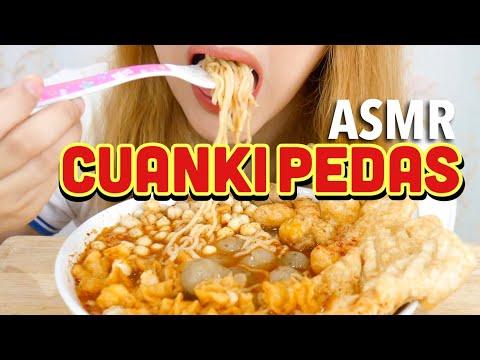 ASMR Eating Sounds : CUANKI PEDAS by Unyu Unyu Factory   ASMR Indonesia #Ad