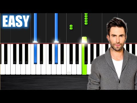 R. City - Locked Away ft. Adam Levine - EASY Piano Tutorial by PlutaX - Synthesia