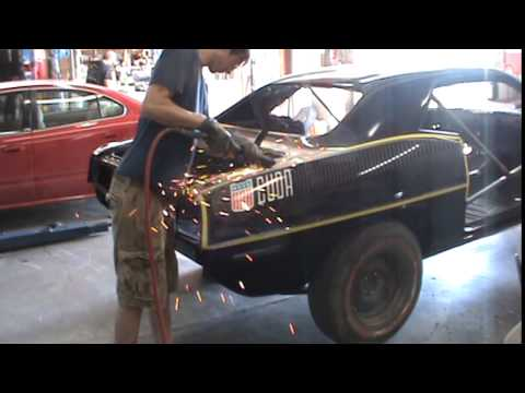 306985 1970 Plymouth Aar Cuda Quarter Panel Removal