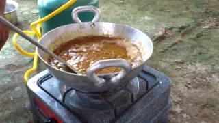 Chacha bal cooking halwa. In bal house