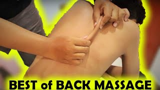 ASMR Relaxing Back and Shoulder Massage ! Happy Weekend