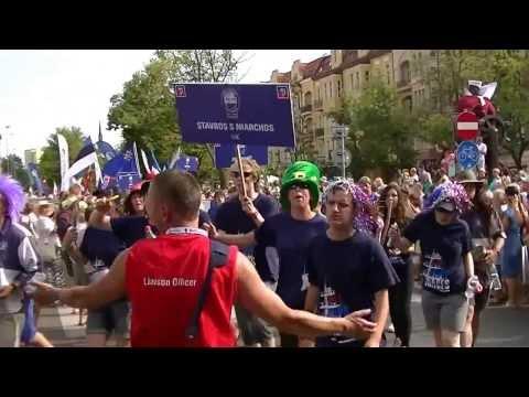 Parada żeglarzy w Szczecinie