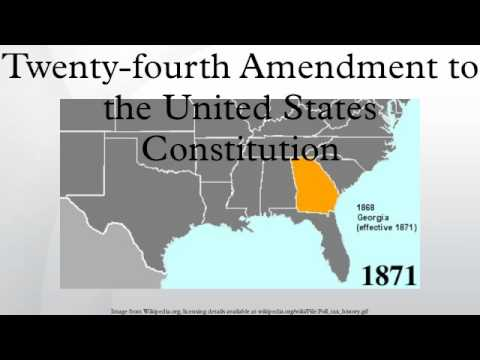 Twenty-fourth Amendment to the United States Constitution