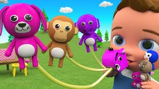 Animals Names for Kids to Learn with Little Babies Fun Play Animals Party Blowouts Balloons Toys 3D