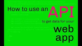 [43.79 MB] How to use an API to get data for your web app
