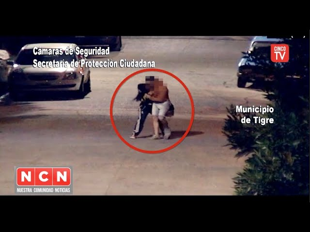 CINCO TV  - Las cámaras del COT permitieron detener a un hombre por golpear salvajemente a su pareja