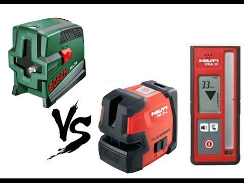 Лазерный нивелир bosch quigo iii с мини-штативом до 10 м погрешность 0,8 мм/м. Лазерный уровень bosch pll1p до 5 м погрешность 0,5 мм/м.