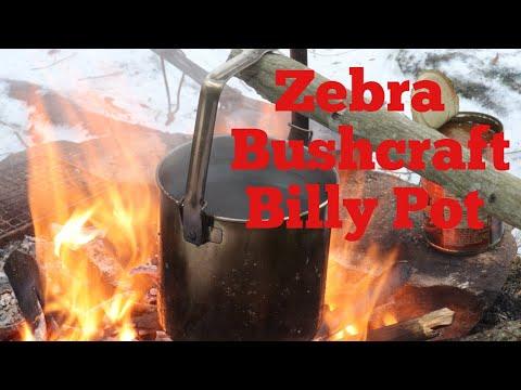 The Zebra Bushcraft Billy Pot, Wilderness Innovations Bag and a Recipe on the Firebox Nano!