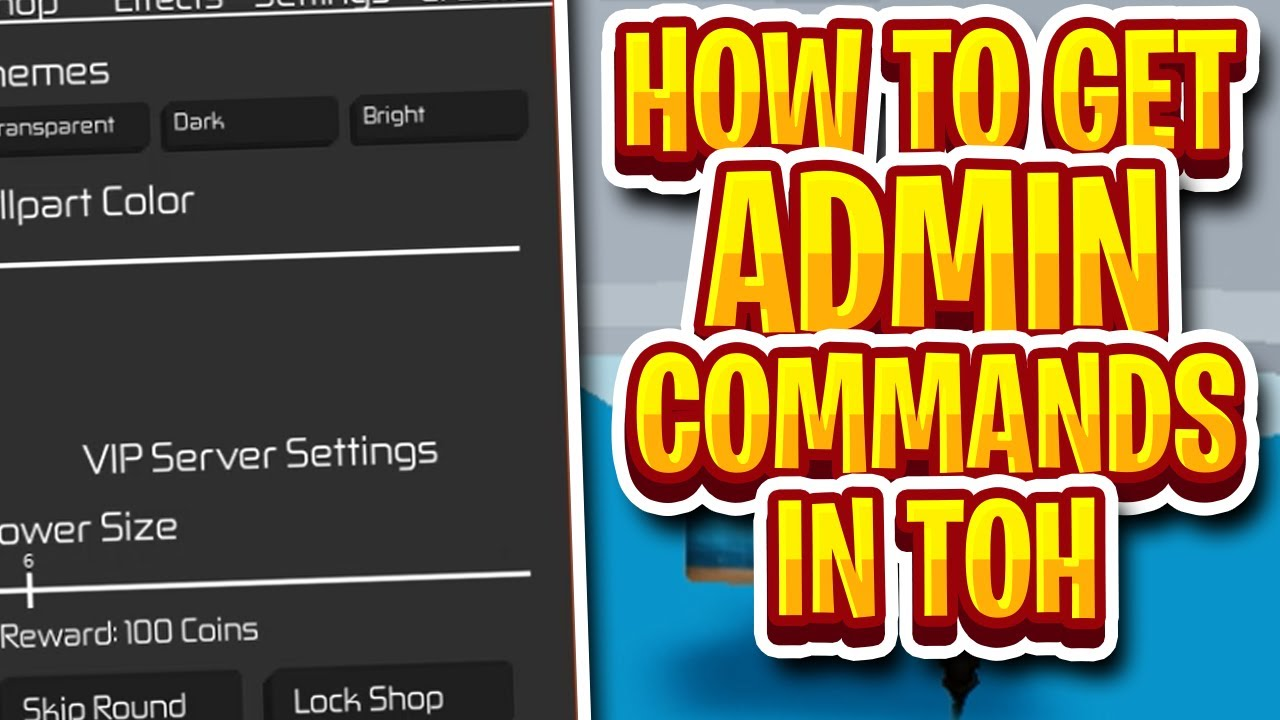 Commands For Roblox Tower Of Hell How To Get Tower Of Hell Admin Commands Roblox Toh Settings Update Youtube