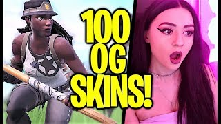 100 OG Skins In 1 Server on Fortnite
