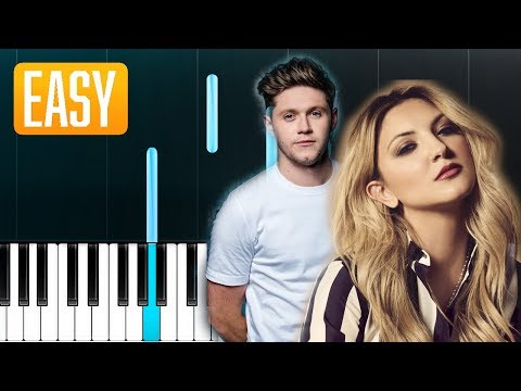 Julia Michaels - What A Time Ft. Niall Horan 100% EASY PIANO TUTORIAL