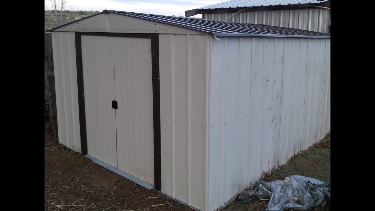 np101267 10x12 arrow storage shed assembly l2survive with thatnub youtube