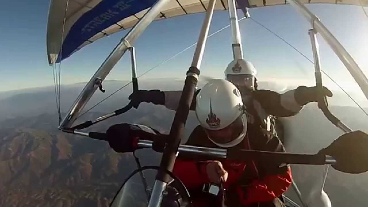 Airborne XT912 Ultralight Trike Crossing the Mountains @12500 ft