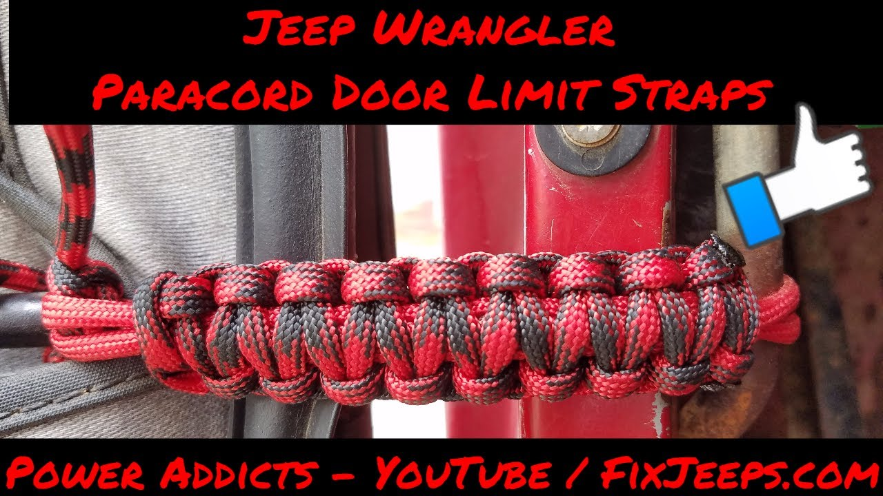 Jeep Wrangler Yj Paracord Door Limit Straps Youtube