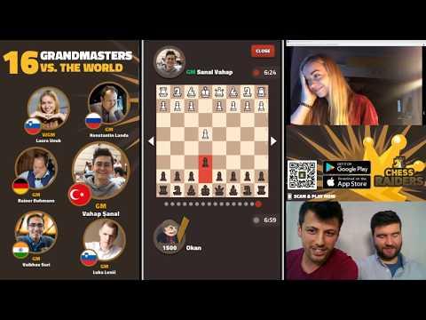 Büyükustalar ile Simultane Gösterisi - Chess Raiders Uygulaması w/ WGM Laura Unuk
