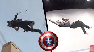 Stunts From Captain America: Civil War In real Life (Part 2, Avengers) Video