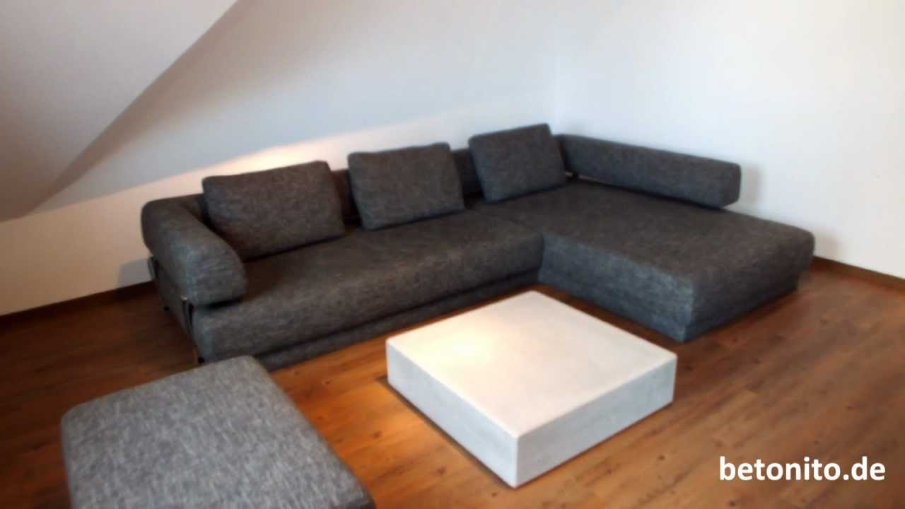 couchtisch beton von betonito betonm bel youtube. Black Bedroom Furniture Sets. Home Design Ideas