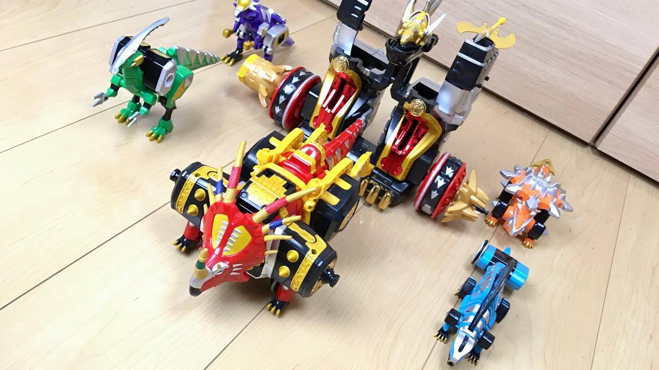 【DX PR Dino Thunder #3】ノロノロ電動歩行⁉︎ マックスオージャで遊んでみた
