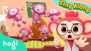 Five little monkeys | Sing Along with Pinkfong & Hogi | Nursery Rhymes | Hogi Kids Songs