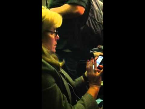annoying airline passenger on Continental flight out of Newark to Ft. Lauderdale