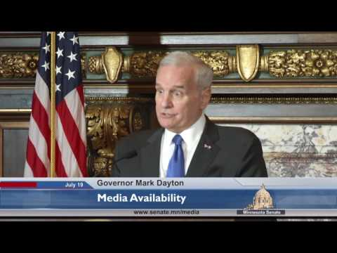 Governor Dayton Comments on EPA Meeting, Police Shoorting of Justine Damond