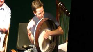 Cormac Byrne plays bodhran at Craiceann in  Inisheer 2010