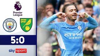 Grealish-Premiere bei Torfestival! | Manchester City - Norwich City 5:0