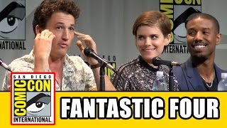 Fantastic Four Comic Con Panel: Miles Teller, Michael B. Jordan, Kate Mara, Toby Kebbell, Jamie Bell