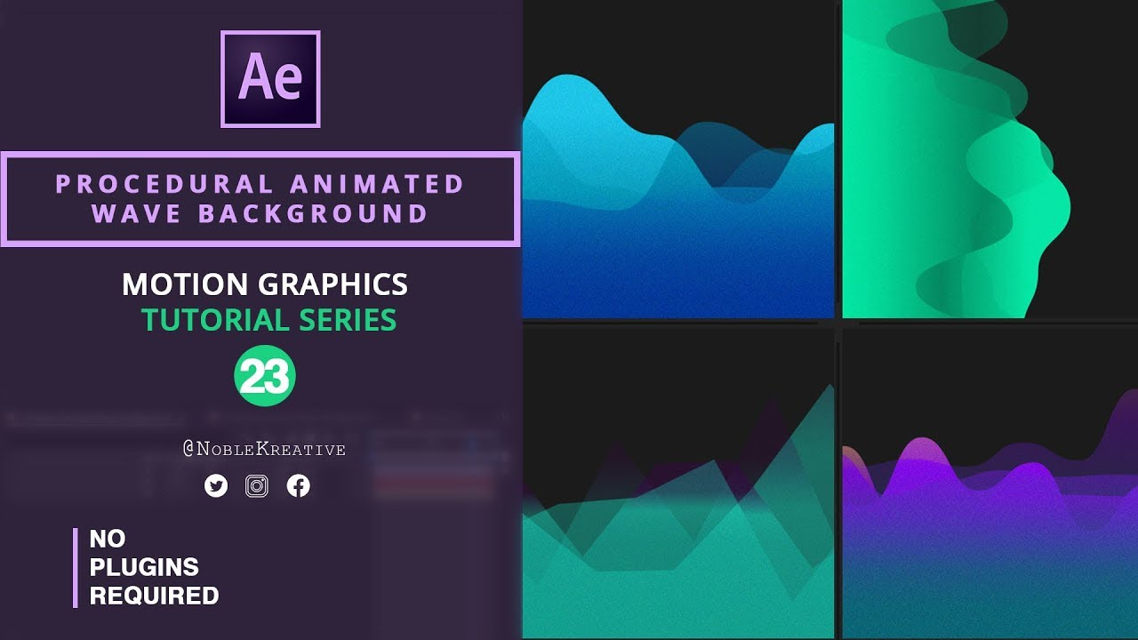 After effects wave background