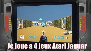 Je joue a 4 jeux atari jaguar : doom , wolfenstein 3d, etc...