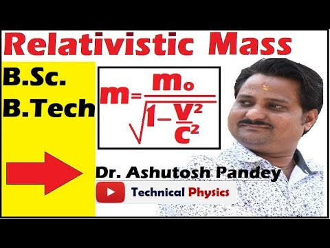 Variation Of Mass With Velocity| Special Theory Of Relativity | Relativistic Mass | Lecture In Hindi