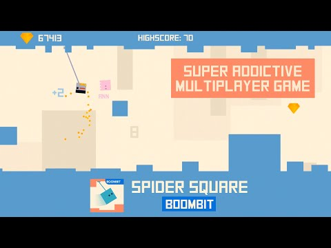 SPIDER SQUARE by BoomBit Games | iOS App (iPhone, iPad) | Android Video Gameplay