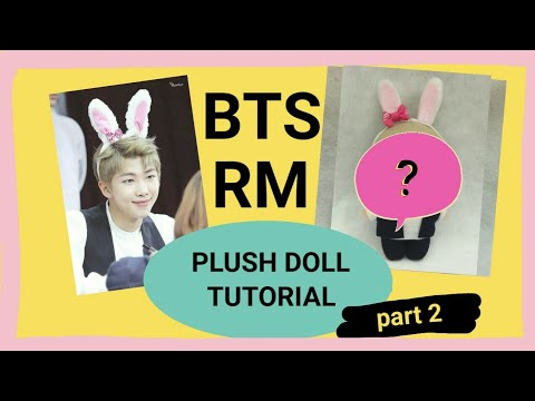 BTS RM Plush Doll Tutorial (part 2) Using Felt Fabric   KPop Doll DIY