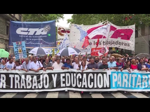 Protesters take to Buenos Aires streets to oppose Macri's reforms