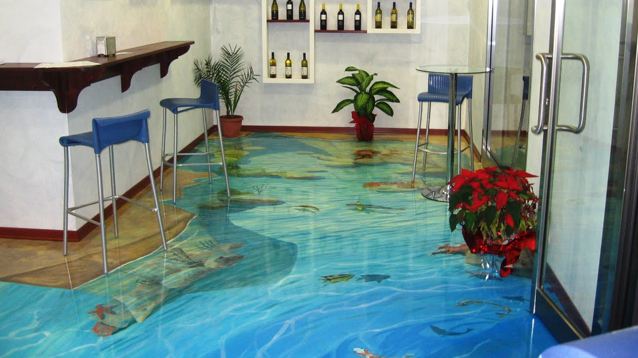 Top 8 of the Coolest 3D Floors Created with Epoxy - YouTube