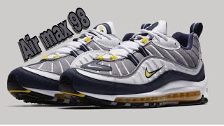 half off ad953 e490e UNBOXING NIKE AIR MAX 98 TOUR YELLOW (COP OR DROP) SNEAKER REVIEW