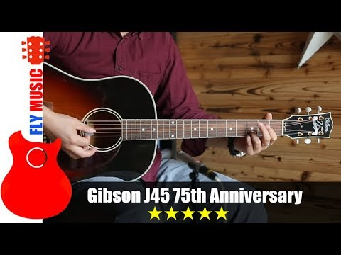 gibson j45 75 anniversary guitars review youtube. Black Bedroom Furniture Sets. Home Design Ideas