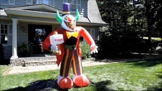 Morbid Airblown Halloween Inflatable - Free Candy Clown - 8 Ft Tall