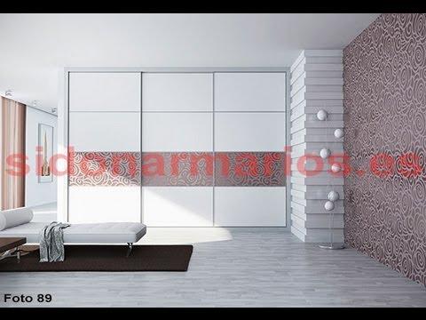 frente de armario melamina blanca con franja de vinilo