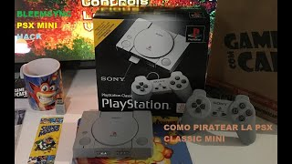 PS1 PSX CLASSIC MINI 2019 ,TUTORIAL  como meter juegos en la consola!!