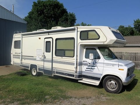 1990 ford econoline mallard 27 foot rv at auction!! kings auction
